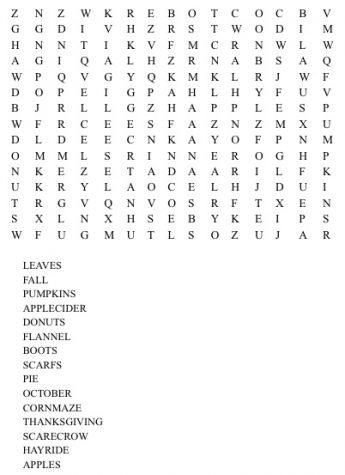 Fall Word Search Triton Voice