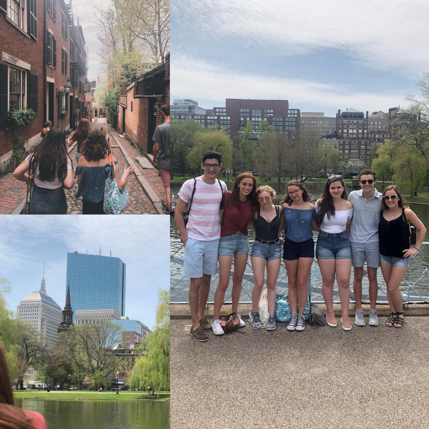 Students visiting Boston this past Thursday (Wolpert/Groder Photos)
