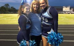 Triton Cheerleaders with their new coach at last year's final football game