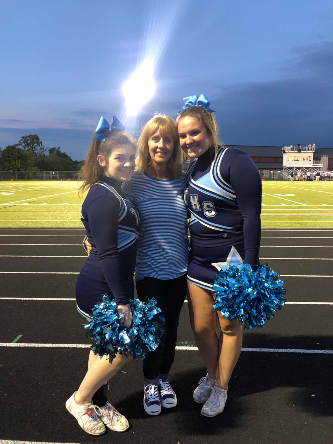 Triton Cheerleaders with their new coach