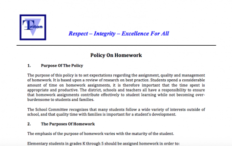 New Homework Policy for Triton High School