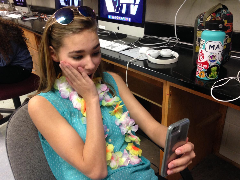 Sophomore Alexandra Flodman reacts to a tweet by President Trump