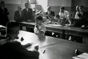 A boy being tried in juvenile court.