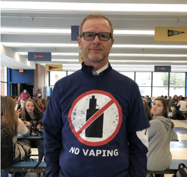 Assistant Principal Scott Brennan has led the way in the administration's efforts to stop vaping.