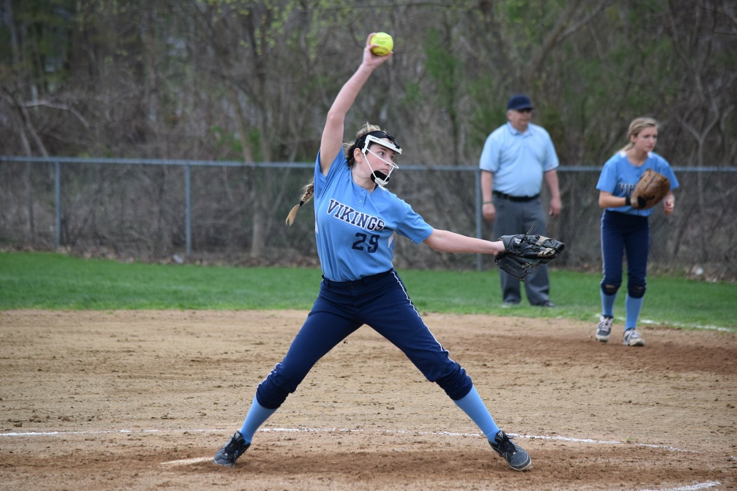 Katherine Quigley pitching last year.