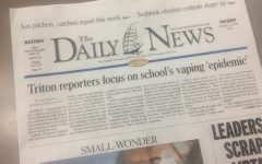 Triton Reporters make The Daily News with Front Page Article on Vaping