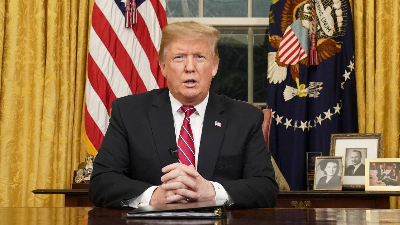 President Trumps first prime time address to the nation from the Oval Office , January 8th 2019