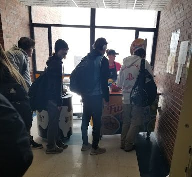 The THS Second-Chance Breakfast line grows after second period ends