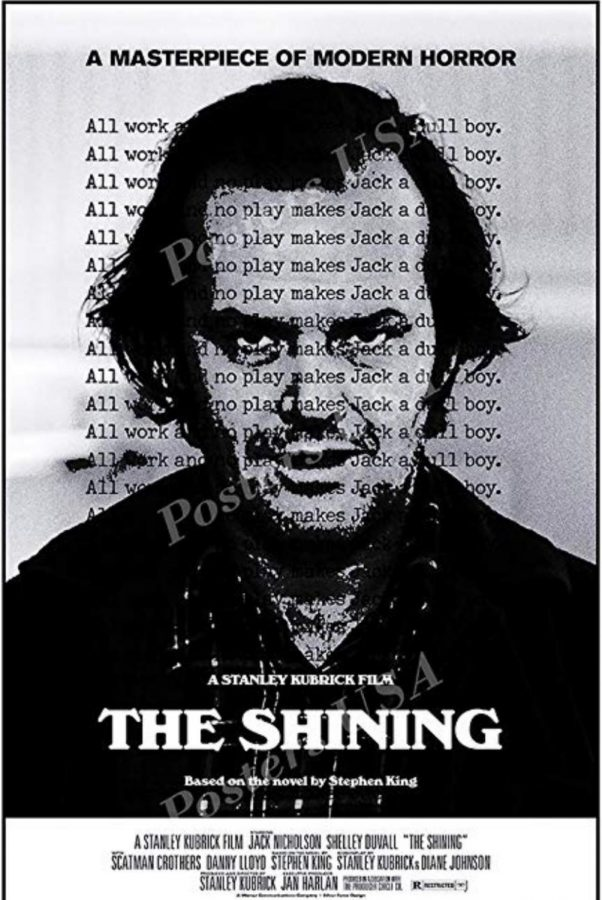 One of many posters for The Shining, depicting Jack Torrance (Jack Nicholson) at the height of his insanity.