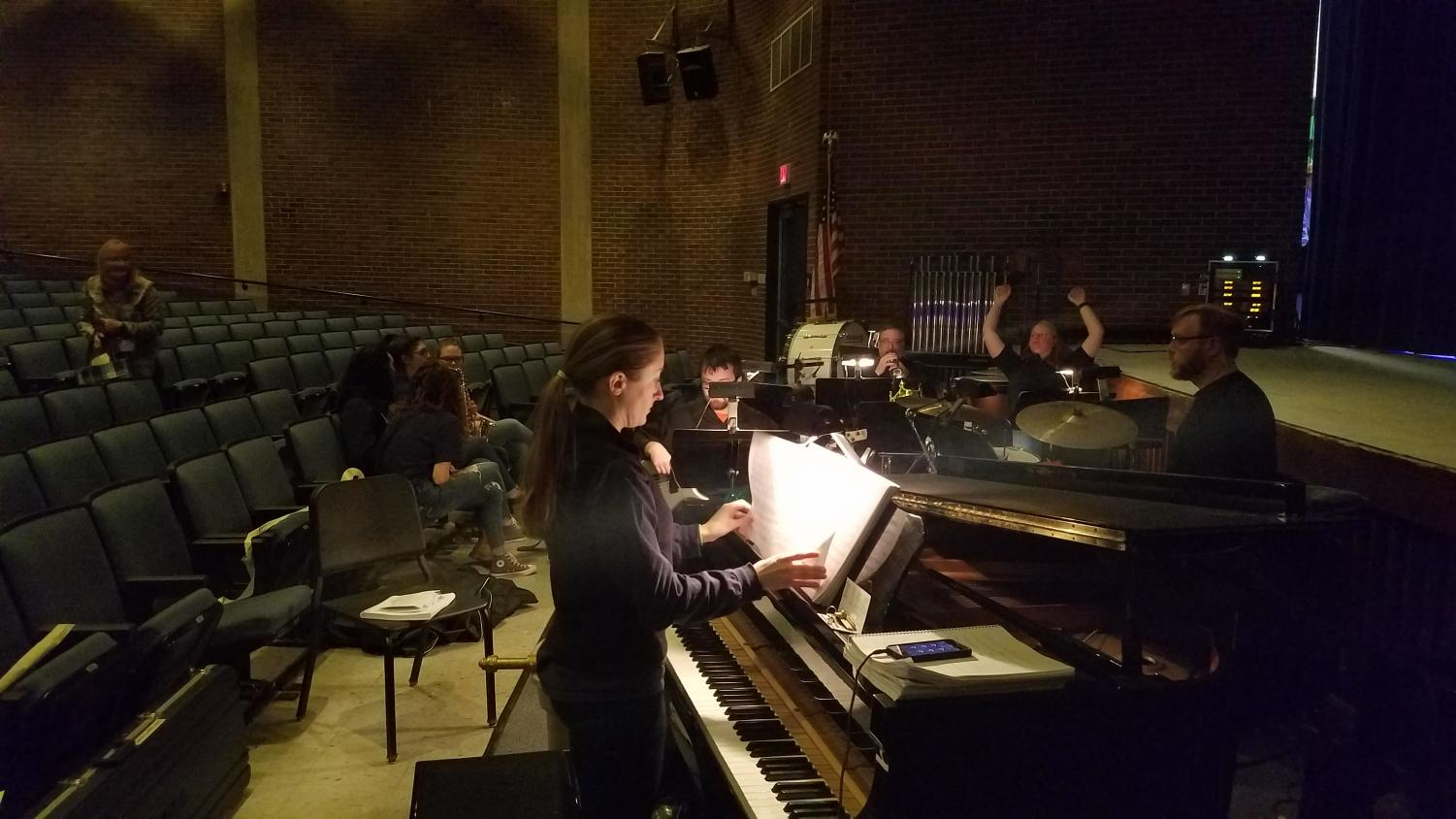 Pit+orchestra+preparing+for+the+final+performance+of+%27Spamalot.%27