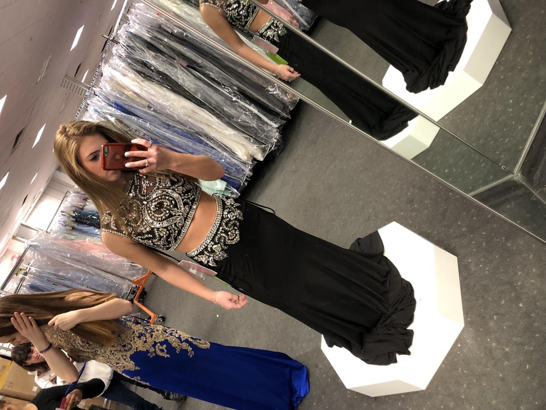 Alyssa Montisanti in her Glitterati prom dress.