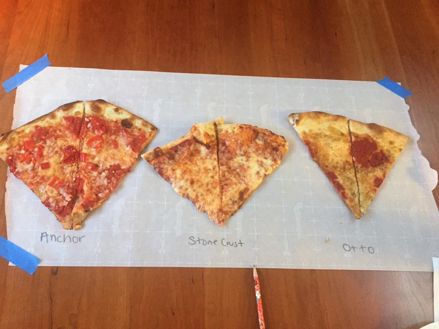 Anchor, Stone Crust, and Otto slices vary in shape, size, and taste.