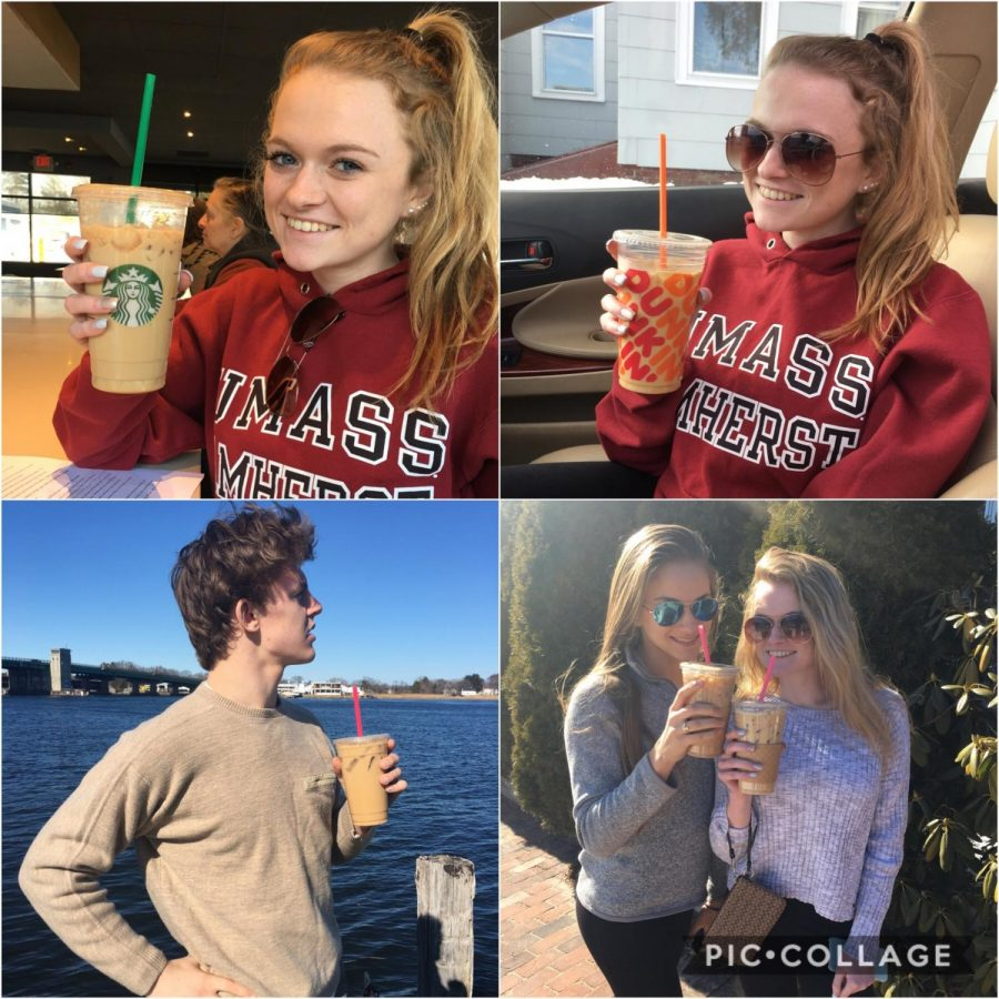 Triton students Kiley Hughes, Anthony Ostrander, and Madi Landry, enjoying the local coffee shops of our area.