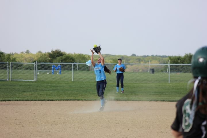 Senior Bridget Sheehan, Triton Varsity Softball player, is entering her final season as a Triton athlete.