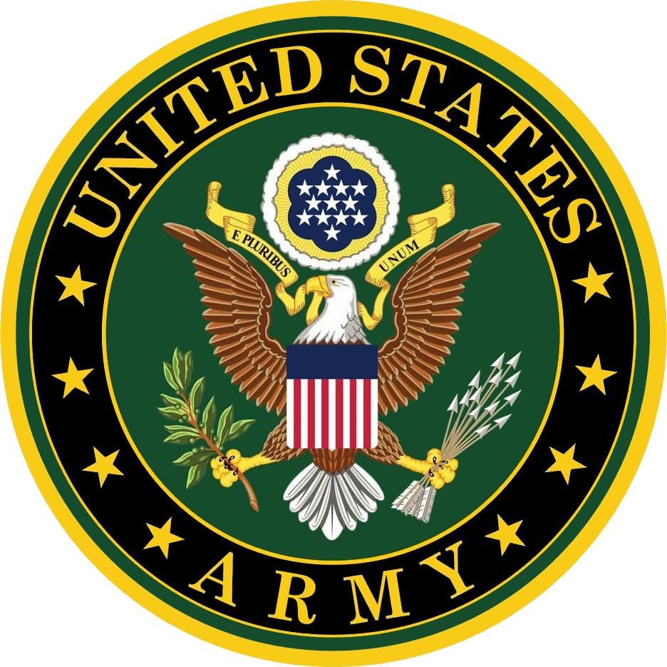 The United States Army Logo. The army is one of the largest branches of the US military and takes up a huge share of its spending.