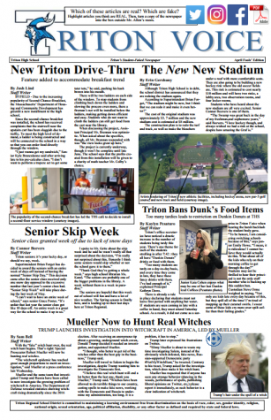 Print Edition of This Week's Triton Voice