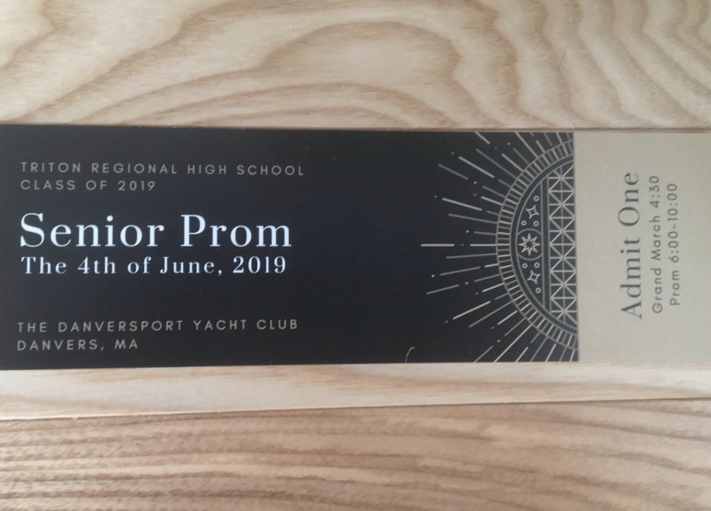 Seniors are excitedly purchasing prom tickets designed by senior Allie Hawkes.