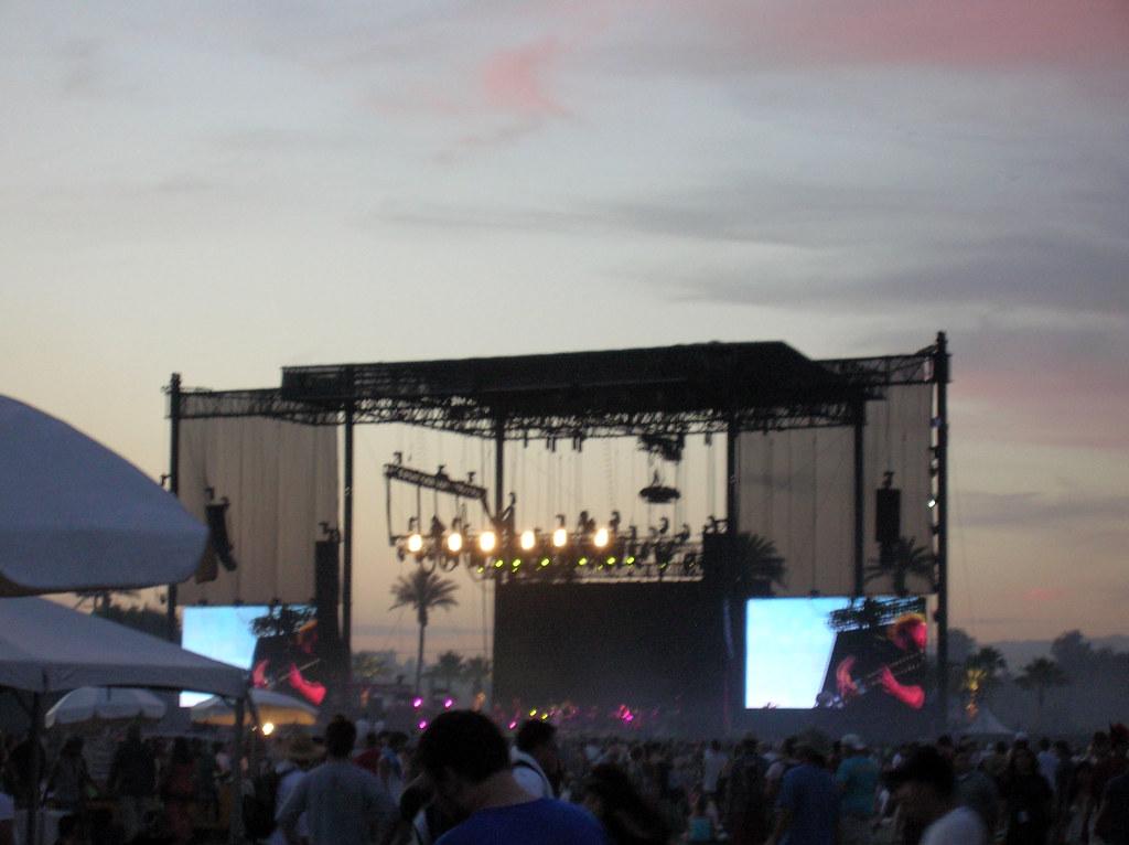 The stage at Coachella Music and Arts Festival.