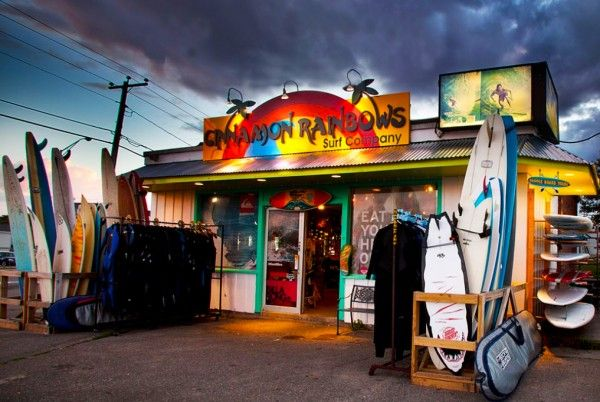 Cinnamon Rainbows is a surf shop in Hampton, NH, which has become popular with students.
