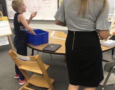 Ms. Donovan helping out a fifth grade student (Christina Varsamis)