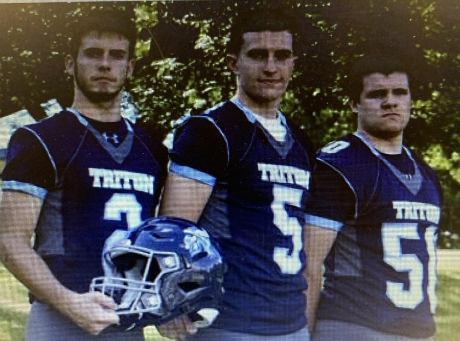 Triton+Football+Captains%28Left+to+Right%29+Ethan+Tremblay%2C+Kyle+Odoy%2C+Barry+Nangle+