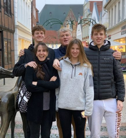 The Ernst family pictured in the streets of Verden Germany