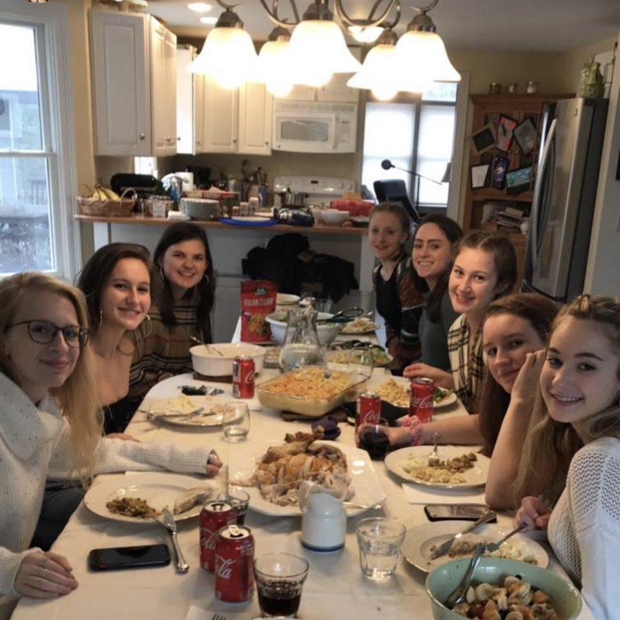 Senior Sarah Burns hosts a Friendsgiving for her friend group.