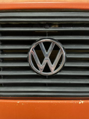 The Classic VW emblem on the 81 VW Vanagon which will remain on the new microbus