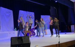 Triton students getting ready for godspell, the spring musical. Opening night is tomorrow March 12th at 7:00 PM. Other dates are the 13th and 14th at 7:00 PM and on March 15th at 2:00 PM