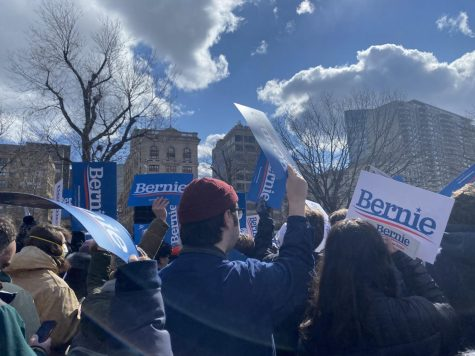 The scene captured by a Triton Voice reporter at the Bernie Sanders rally on the Boston Common on Saturday, February 29th, 2020.