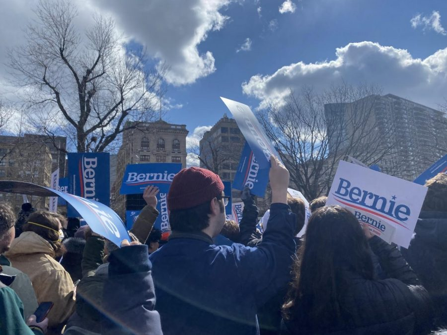 The+scene+captured+by+a+Triton+Voice+reporter+at+the+Bernie+Sanders+rally+on+the+Boston+Common+on+Saturday%2C+February+29th%2C+2020.