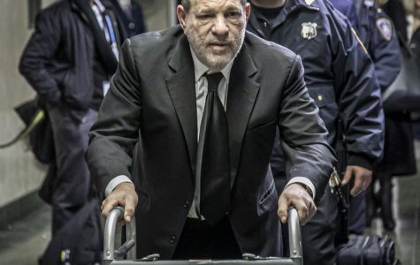 Harvey Weinstein entering the courtroom at a recent appearance in New York City