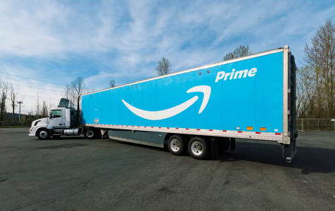 Amazon prime delivery truck carrying packages from across the country. (VOX news)